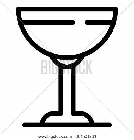 Saucer Glass Icon. Outline Saucer Glass Vector Icon For Web Design Isolated On White Background
