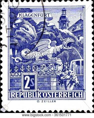 02.09.2020 Divnoe Stavropol Territory Russia The Postage Stamp Austria 1968 Architectural Monuments