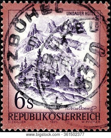 02.09.2020 Divnoe Stavropol Territory Russia Postage Stamp Austria 1975 Landscapes Of Austria Lindau