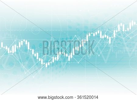 Business Candle Stick Graph Chart Of Stock Market Investment Trading On White Background Design. Bul