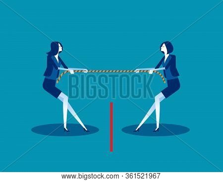 Local Business Competition. Concept Business Competitive Vector Illustration, Conflict
