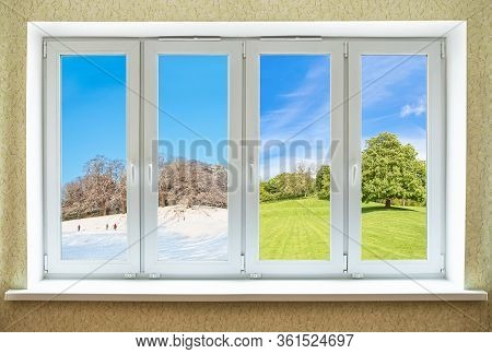 Concept  Of Modern Pvc Window Equally Suitable For Any Seasons