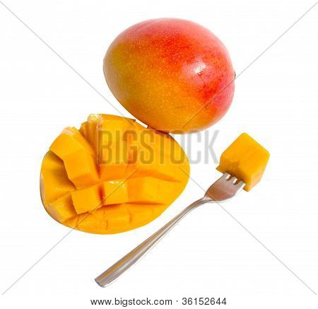 Mango  With Fork