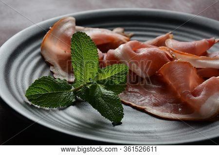 Italian Prosciutto Crudo Or Jamon . Raw Ham