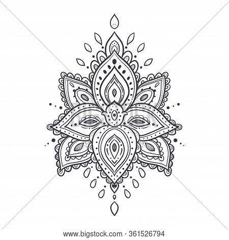 Beautiful Ornate Pattern. Lotus Flower. Vector Illustration