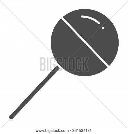 Chupa Chups Solid Icon. Sweet Round Lollipop Illustration Isolated On White. Chupa Chups Yummy Candy
