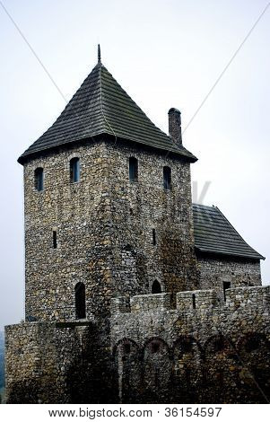 Historical, medieval, ancient castle in Bedzin, Poland. poster