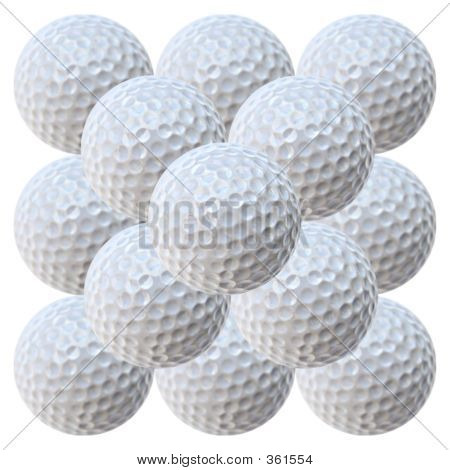 Golf Balls Piramid (20.2 Megapixels)