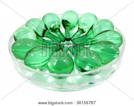 Hair Vitamin Serum Capsule In Container