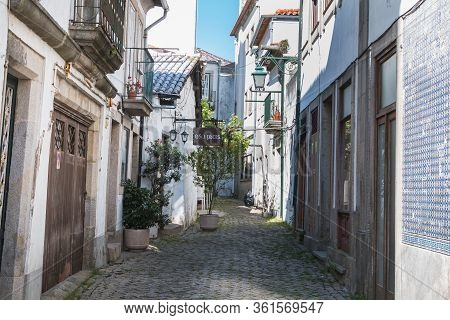 Architecture Detail Of Typical Houses And Shops In Viana Do Castelo, Portugal