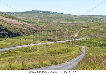 Golden Gate Highlands National Park, South Africa - March 5, 2020: The Golden Gate Landscape As Seen