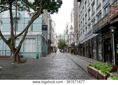 Cape Town, South Africa - 16 April 2020 : Empty Streets Of Cape Town, South Africa During The Lock D