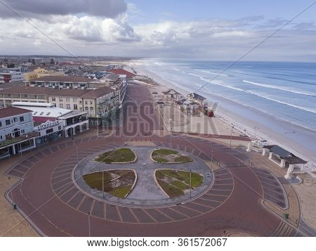 Cape Town, South Africa - 16 April 2020 : Empty Streets Of Cape Town At Muizenberg Beach, South Afri