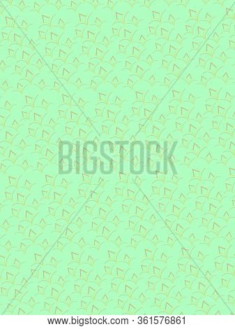 Abstract Green Background With Decorative Rhomboid Elements