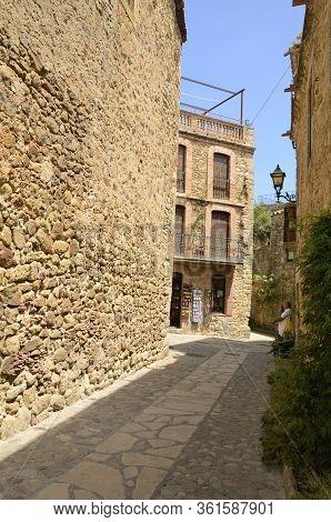 Alley In Medieval Girona Village
