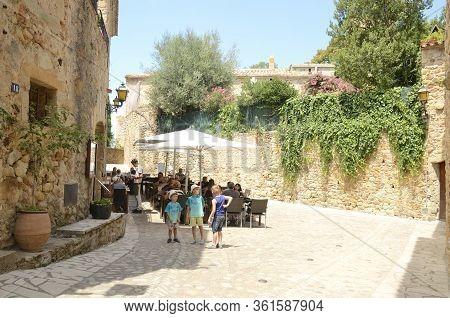 Restaurant In Medieval Girona Village