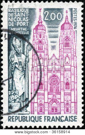 Stamp Basilique De Saint Nicolas De Port Meurthe Et Moselle