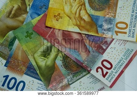 Swiss Money And Currency Of Switzerland. Swiss Francs. Money In Switzerland