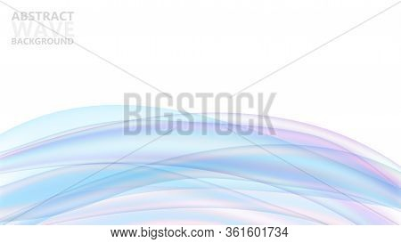 Abstract Vector Background With Dynamic Colorful Waves. Modern Color Abstract Background With Blue W