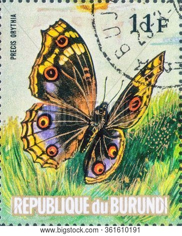 Saint Petersburg, Russia - March 15, 2020: Postage Stamp Issued In The Burundi With The Image Of The