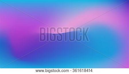 Blue Purple Pink Digital Gradient Background. Liquid Neon Bright Trendy Wallpaper. Elegant Colorful