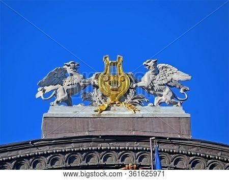 Kiev, Ukraine - Feb 11, 2020: The National Opera Of Ukraine Aka Ukrainian National Opera House On Fe