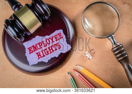 Employee Rights. Legal Aid, Compensation, Obligations And Rights Concept
