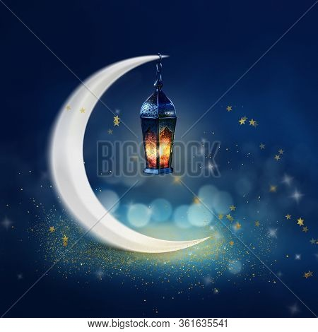 Ramadan Kareem Background. Islamic Greeting Card For Muslim Holidays And Ramadan.