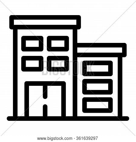 Therapist Building Icon. Outline Therapist Building Vector Icon For Web Design Isolated On White Bac