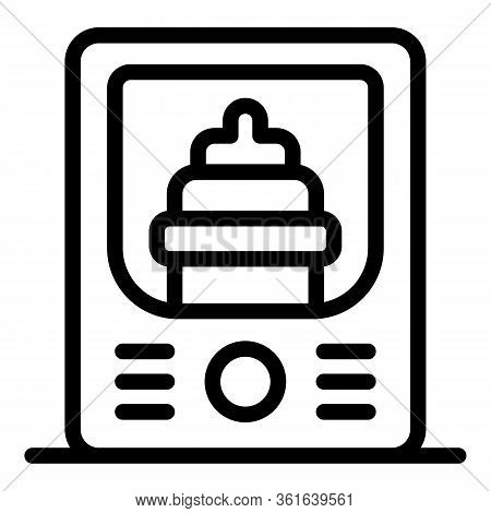 Baby Bottle Sterilizer Icon. Outline Baby Bottle Sterilizer Vector Icon For Web Design Isolated On W