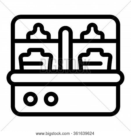 Tool Sterilizer Icon. Outline Tool Sterilizer Vector Icon For Web Design Isolated On White Backgroun