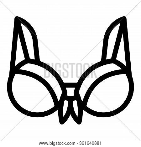 Padded Bra Icon. Outline Padded Bra Vector Icon For Web Design Isolated On White Background