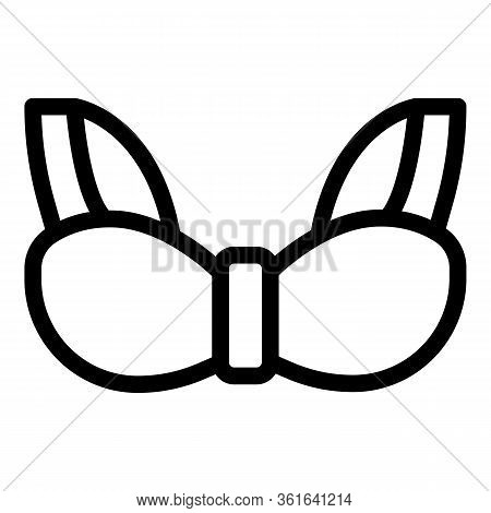 Support Bra Icon. Outline Support Bra Vector Icon For Web Design Isolated On White Background