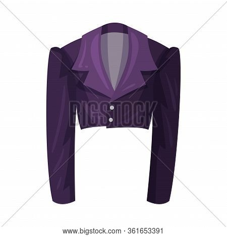 Long Sleeved Blazer Or Jacket With Collar As Womenswear Vector Illustration