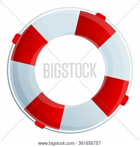 Lifebuoy Icon. Cartoon Of Lifebuoy Vector Icon For Web Design Isolated On White Background