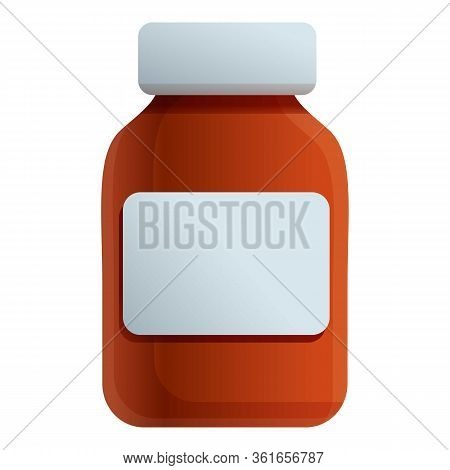 Syrup Bottle Icon. Cartoon Of Syrup Bottle Vector Icon For Web Design Isolated On White Background
