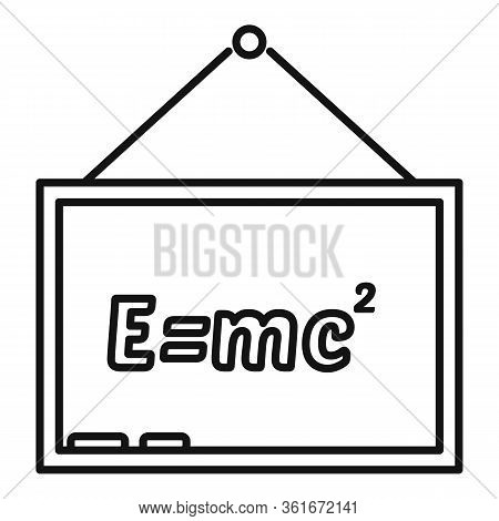 School Lesson Board Icon. Outline School Lesson Board Vector Icon For Web Design Isolated On White B