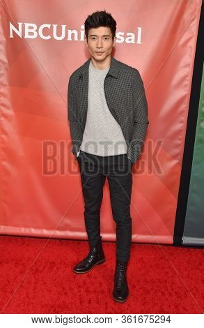 LOS ANGELES - JAN 11:  Manny Jacinto on the red carpet at the NBCUniversal Winter TCA 2020 on January 11, 2020 in Pasadena, CA
