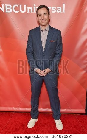 LOS ANGELES - JAN 11:  Andy Greenwald on the red carpet at the NBCUniversal Winter TCA 2020 on January 11, 2020 in Pasadena, CA