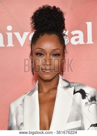 LOS ANGELES - JAN 11:  Yaya DaCosta on the red carpet at the NBCUniversal Winter TCA 2020 on January 11, 2020 in Pasadena, CA