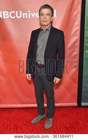 LOS ANGELES - JAN 11:  Peter Gallagher on the red carpet at the NBCUniversal Winter TCA 2020 on January 11, 2020 in Pasadena, CA