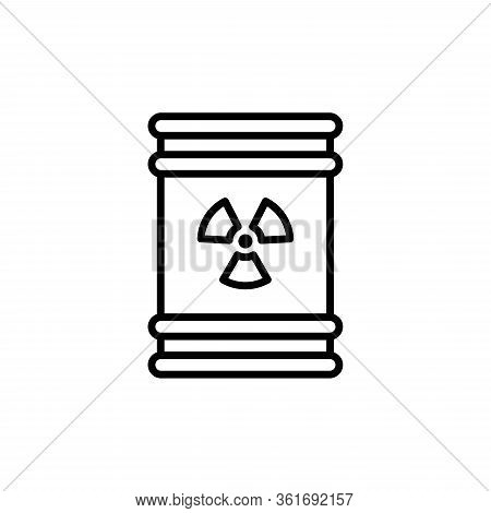 Chemical Or Radioactive Waste. Plastic Container Oitline Icon.