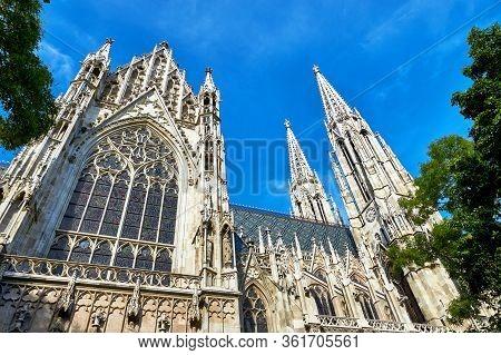 Vienna, Austria - September 2018: Votivkirche In The City Center