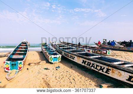 Kayar, Senegal - November 14, 2019: Traditional Fishing Village Of Kayar, Senegal. West Africa.
