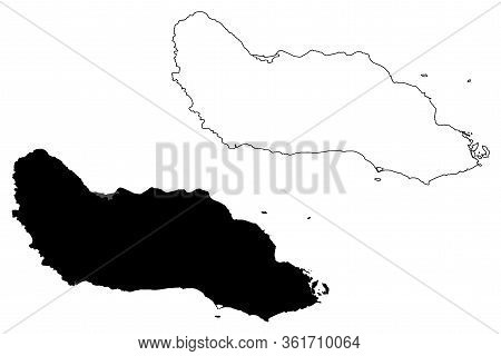 Guadalcanal Province (provinces Of Solomon Islands, Solomon Islands, Island) Map Vector Illustration