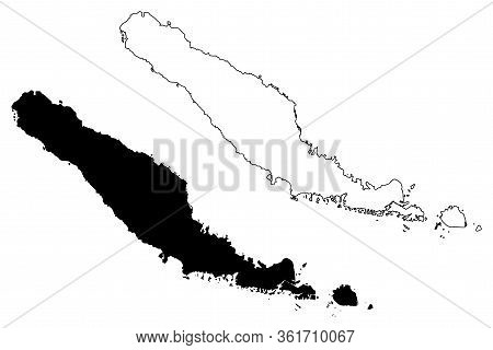 Choiseul Province (provinces Of Solomon Islands, Solomon Islands, Island) Map Vector Illustration, S