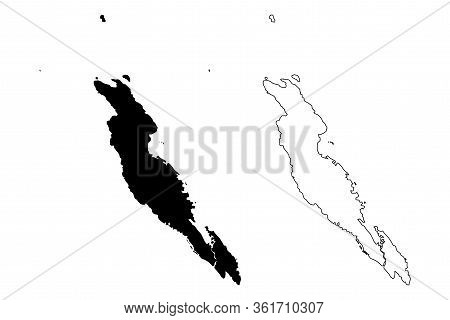 Malaita Province (provinces Of Solomon Islands, Solomon Islands, Island) Map Vector Illustration, Sc