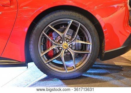 Pasay, Ph - July 28: Ferrari California Wheel At Bumper To Bumper Prime Car Show On July 28, 2019 In
