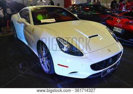 Pasay, Ph - July 28: Ferrari California At Bumper To Bumper Prime Car Show On July 28, 2019 In Pasay