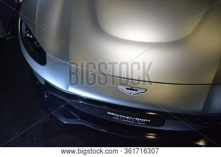 Pasay, Ph - July 28: Aston Martin Car At Bumper To Bumper Prime Car Show On July 28, 2019 In Pasay,